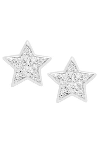 Fossil Paar Ohrstecker »Sterling Glitz Star, Sterne, JFS00152«, mit Zirkonia kaufen