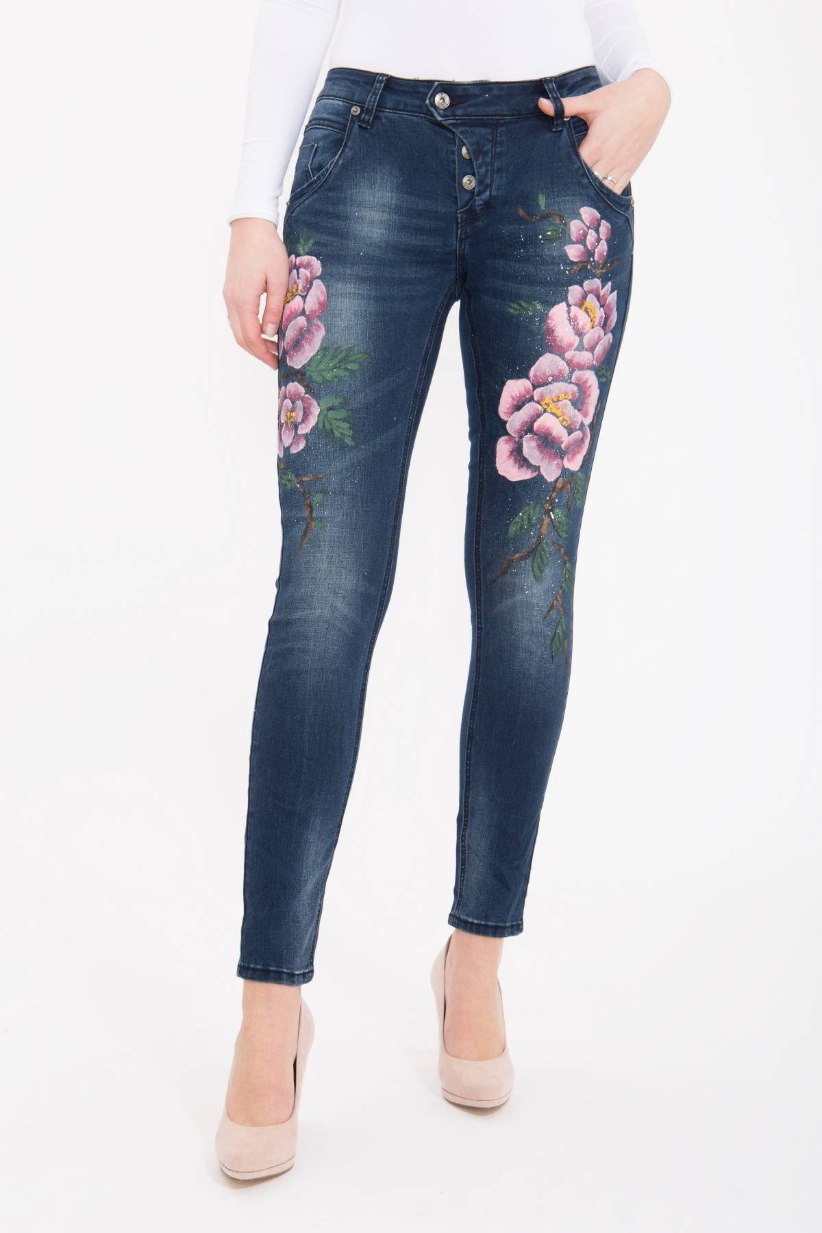 Blue Monkey Skinny-fit-Jeans Manie 1467