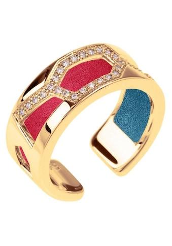 Les Georgettes Ring-Set »GIRAFFE GOLD-ZIRKONIA, 8 mm, petrol-himbeere, GIRG8SZ-M7, GIRG8MZ-M7«, (Set, 2 tlg.), mit Zirkonia und Einlage aus Acryl kaufen