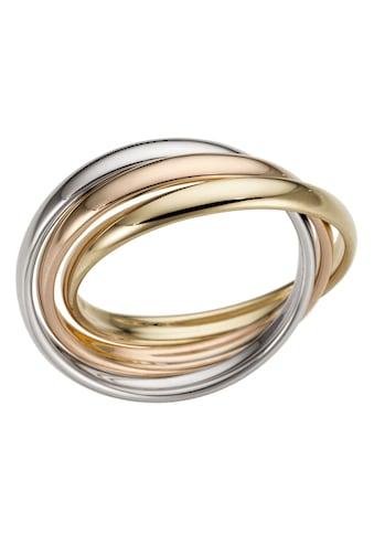 Firetti Goldring »3 - Fach verschlungen, tricolor, Glanz, massiv« kaufen
