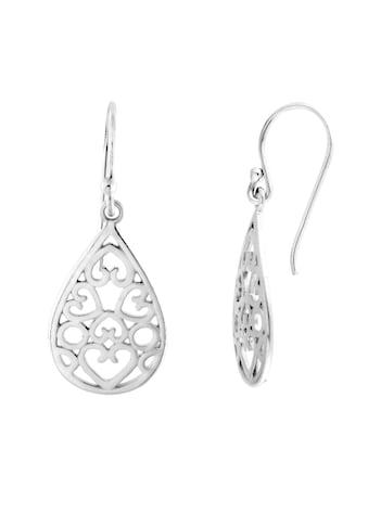 Smart Jewel Paar Ohrhaken »tropfenförmig, glanz, Silber 925« kaufen