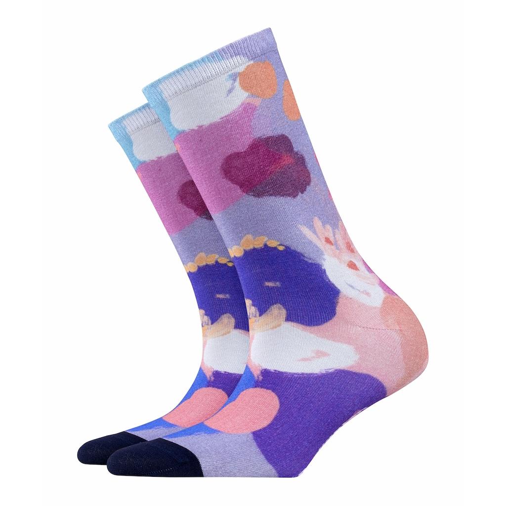 Burlington Socken Painted Flower (1 Paar)