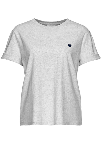 OPUS T-Shirt »Serz«, mit kleiner Herz-Stickerei kaufen