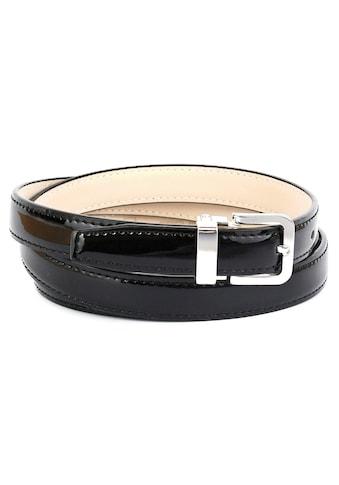 Anthoni Crown Ledergürtel, Klassischer Lackledergürtel in 2 cm Breite kaufen