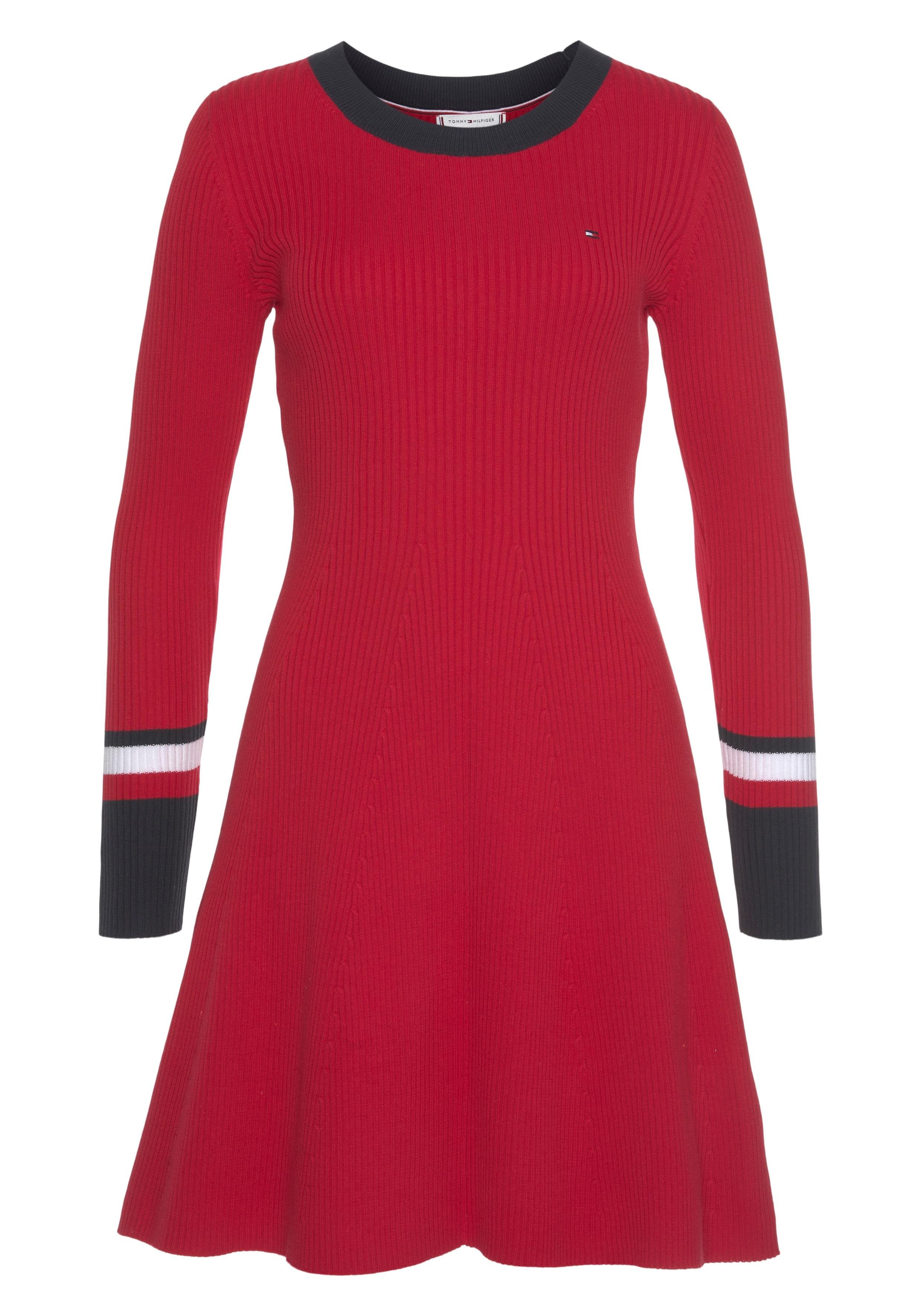 tommy hilfiger -  Strickkleid TH WARM C-NK FIT & FLARE DRESS