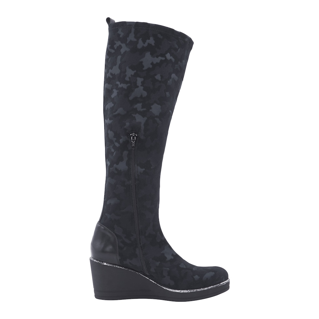 Stiefel mit Camouflage-Muster