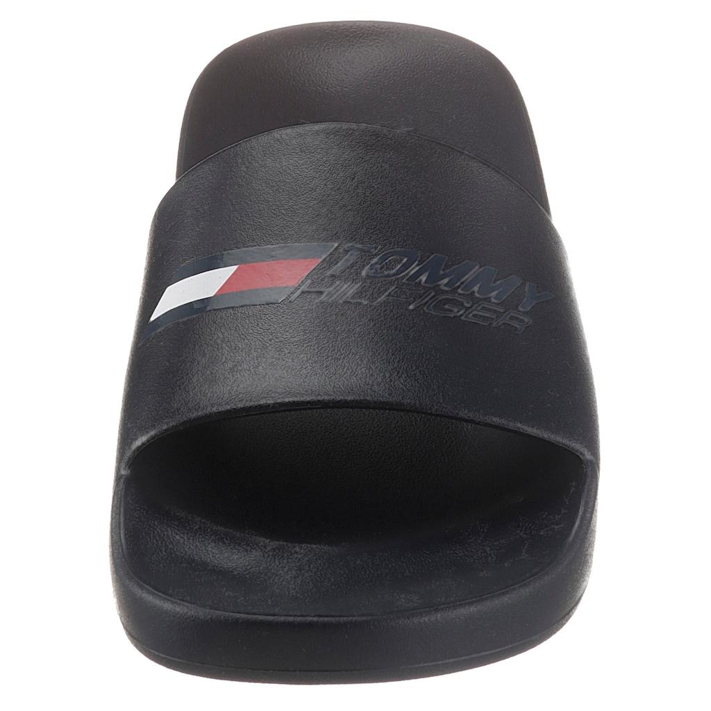 Tommy Hilfiger Sport Badepantolette »TS POOL SLIDE 3«, mit breiter Bandage