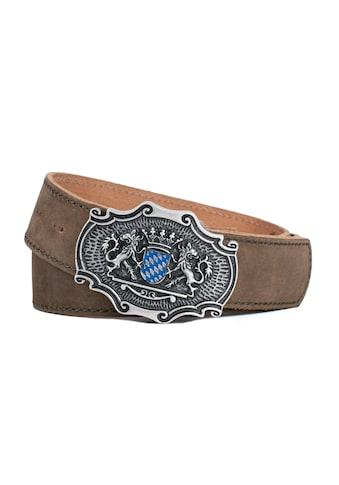 Der Trachtler Ledergürtel »Seppl«, mit origineller Koppelschließe kaufen
