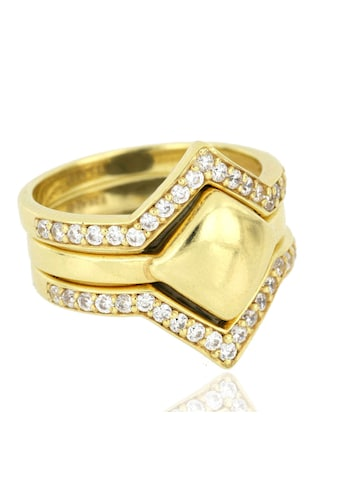 JULES & GENTS Ring-Set »#kairo Gold«, 925/- Sterlingsilber gelbvergoldet kaufen