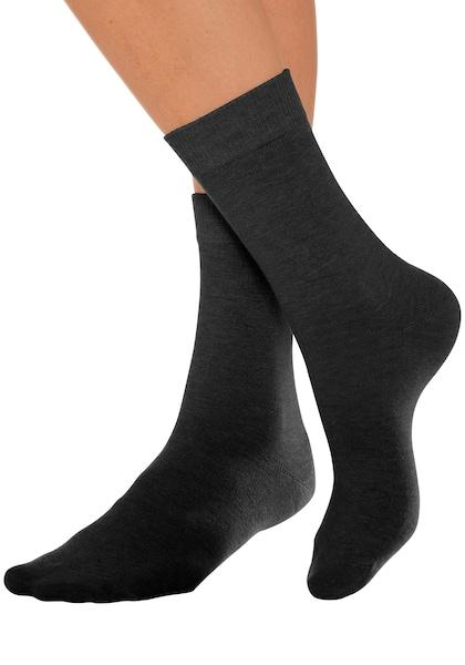 Mit 7 Paar Druckfreiem Basic Bündchen Lavana Socken Schwarz 6qIv1Bw