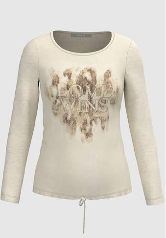 bianca Langarmshirt »DAMI«, mit Frontmotiv und Bindetail kaufen