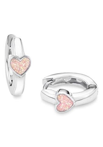 Prinzessin Lillifee Paar Creolen »Herzen, 9049219«, mit Emaille kaufen
