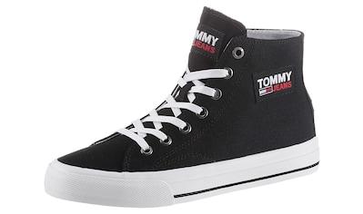 Tommy Jeans Plateausneaker »TOMMY JEANS MIDCUT VULC«, mit Logo-Aufnäher kaufen