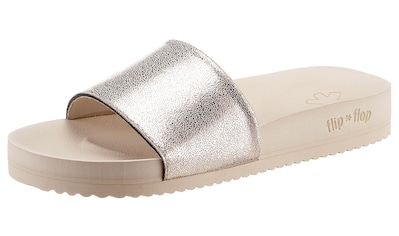 Flip Flop Pantolette »pool metallic cracked«, mit Metallic Crush Effekt kaufen