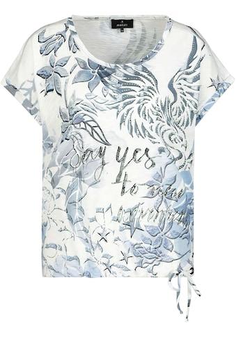 Monari Kurzarmshirt, mit Allover-Tattoodruck mit funkelnden Strass kaufen