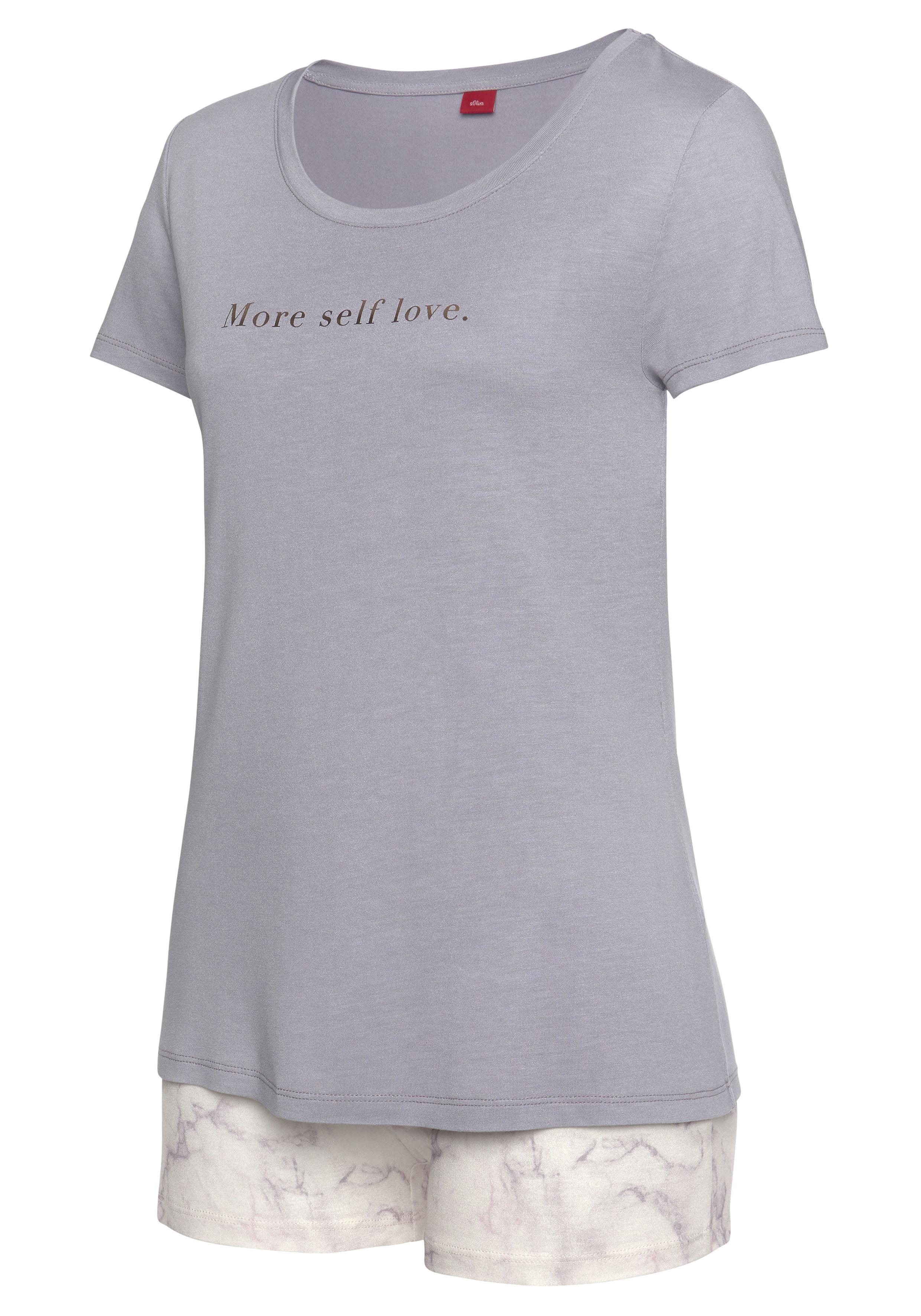 s.oliver -  Shorty, mit marmorierten Print