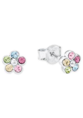 Amor Paar Ohrstecker »Blüten, 2021266«, mit Kristallen kaufen