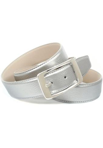 Anthoni Crown Ledergürtel, in glänzender Optik mit eckiger Schließe kaufen