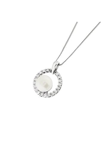 Smart Jewel Kette mit Anhänger »Zirkonia Steine und Perle, Silber 925, diamantierte... kaufen