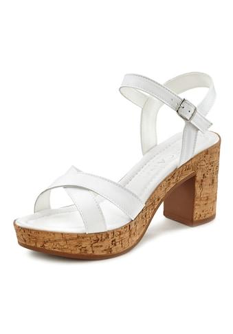 LASCANA Sandalette, aus Leder mit Blockabsatz kaufen