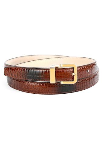Anthoni Crown Ledergürtel, mit Krokomuster, modische Prägung kaufen