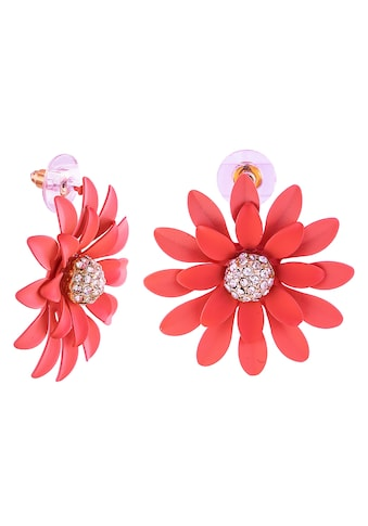 J.Jayz Paar Ohrstecker »Blumenohrstecker rosa in 3D«, mit Glassteinen kaufen