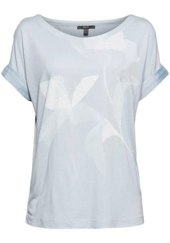 Esprit Collection T-Shirt, mit großem Blumenmotiv kaufen