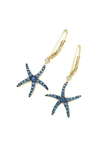 Smart Jewel Paar Ohrhänger »Seestern, Zirkonia Steine, Silber 925« kaufen