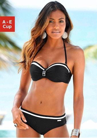 LASCANA Bügel-Bandeau-Bikini, mit Kontrastdetails kaufen