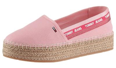 Tommy Jeans Espadrille »TOMMY JEANS FLATFORM ESPADRILLE«, mit Kofferbandverzierung kaufen