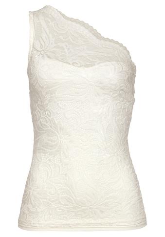 Melrose One-Shoulder-Top, aus elastischer Spitze - NEUE KOLLEKTION kaufen