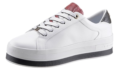 TOMMY HILFIGER Plateausneaker »CROC PRINT LEATHER SNEAKER« kaufen