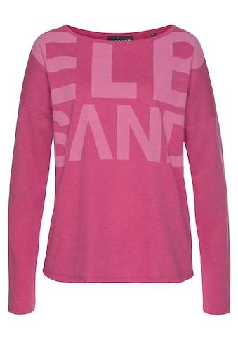 Elbsand Langarmshirt »Niola«, mit großem Frontprint kaufen