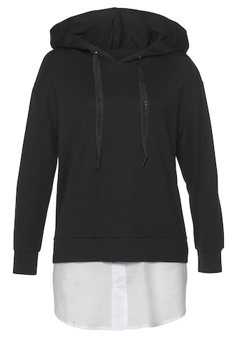 LASCANA Kapuzenshirt, mit abnehmbaren Bluseneinsatz am Saum kaufen