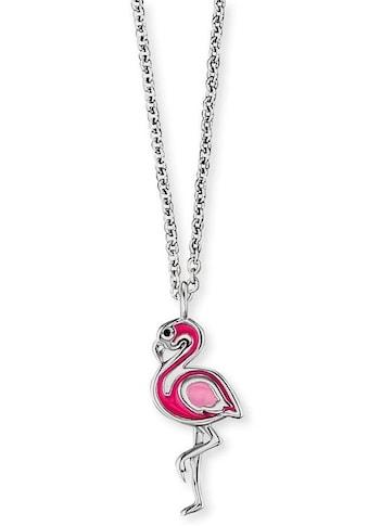 Herzengel Kette mit Anhänger »Flamingo, HEN-FLAMINGO«, mit Emaille kaufen