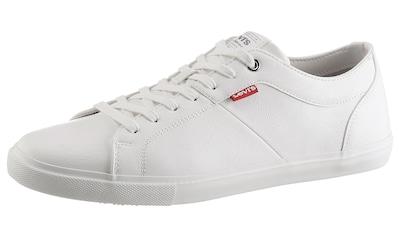 Levi's® Sneaker »Woods«, mit dezentem Logoflag kaufen