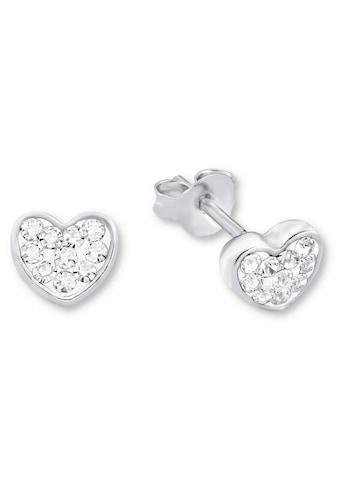Amor Paar Ohrstecker »Herzen, 9968459«, mit Kristallen kaufen