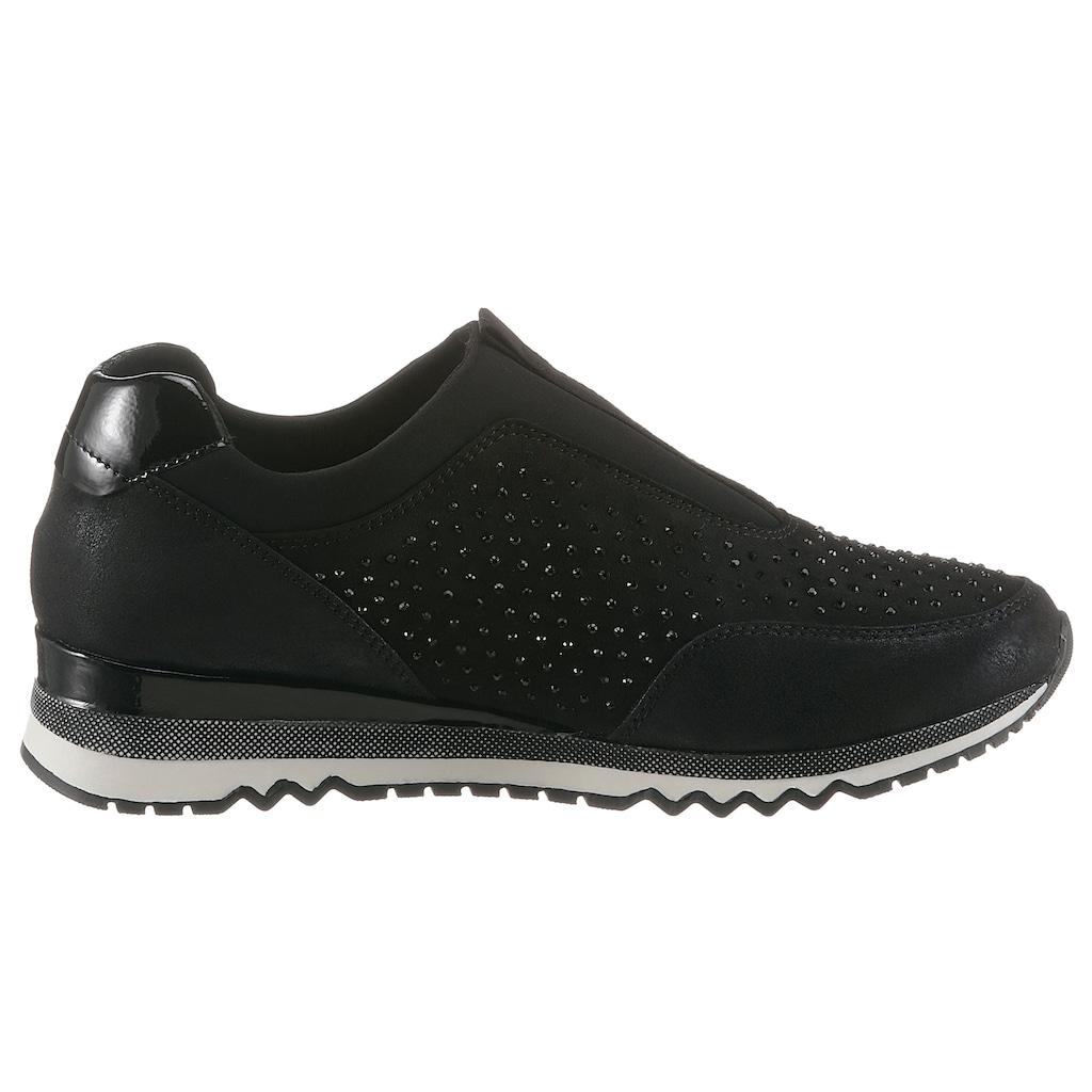 MARCO TOZZI Slip-On Sneaker, mit funkelnden Steinchen