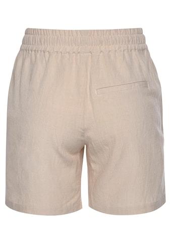 LASCANA Shorts, aus Leinenmix kaufen
