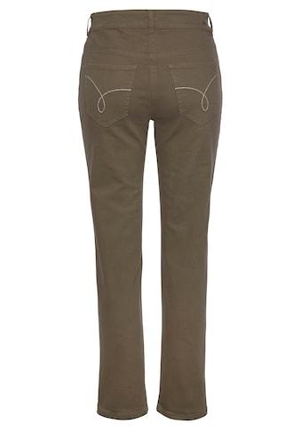 MAC Slim-fit-Jeans »Angela Pipe Embro«, Mit aufwendiger Sticherei auf den vorderen und... kaufen