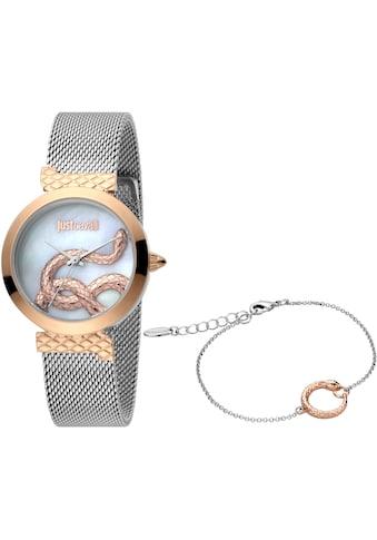 Just Cavalli Time Quarzuhr »creazione 2, JC1L091M0095«, (Set, 2 tlg., Uhr mit 1... kaufen