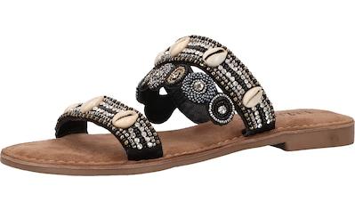 Lazamani Pantolette »Lederimitat/Textil« kaufen