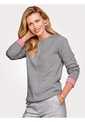 Mona Pullover in Kontrast-Verarbeitung kaufen
