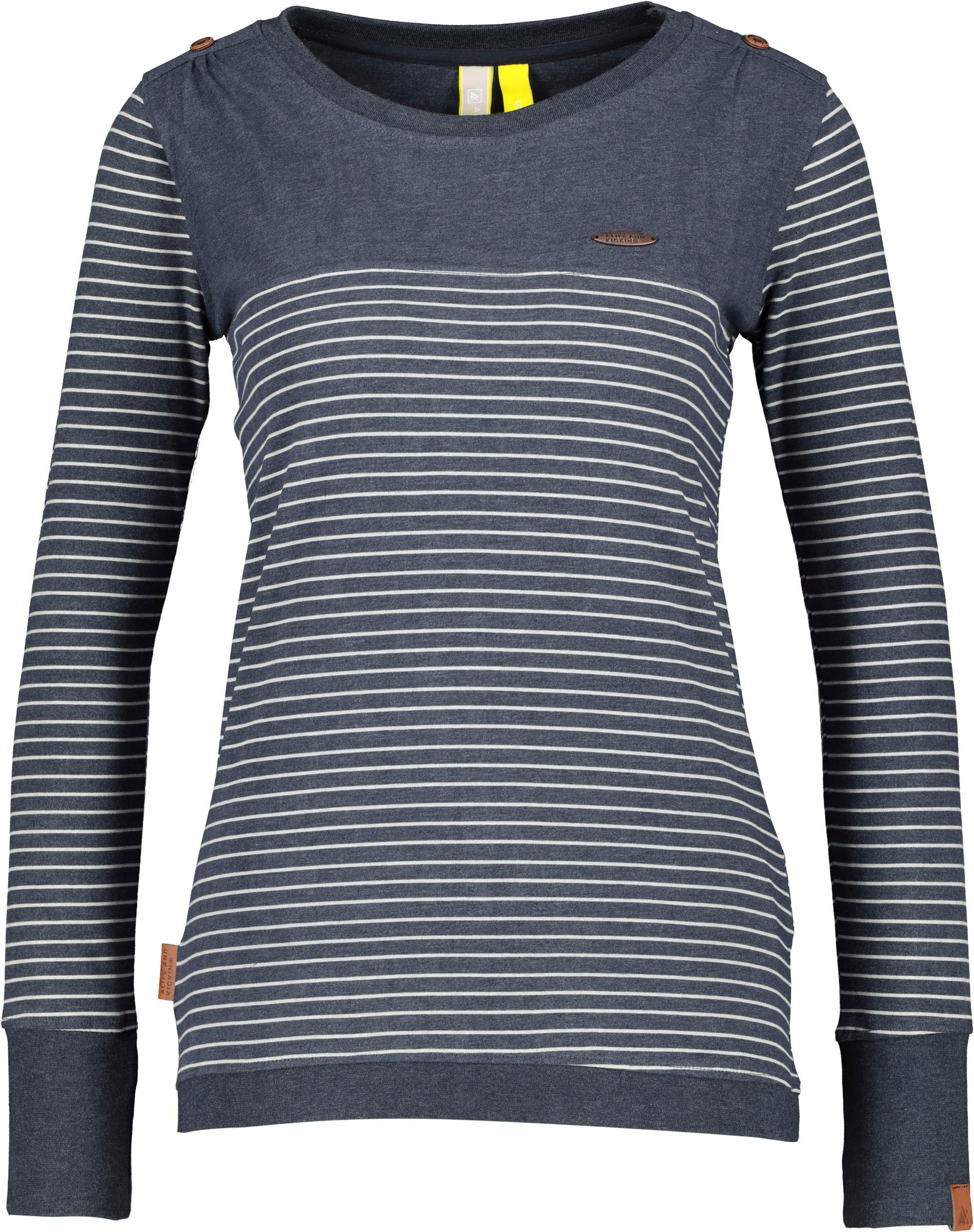 alife & kickin -  T-Shirt LeonieAK, sportives Longsleeve mit zarten Streifen