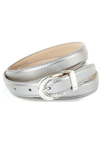 Anthoni Crown Ledergürtel, in schmaler Form, stabil gefertigt kaufen