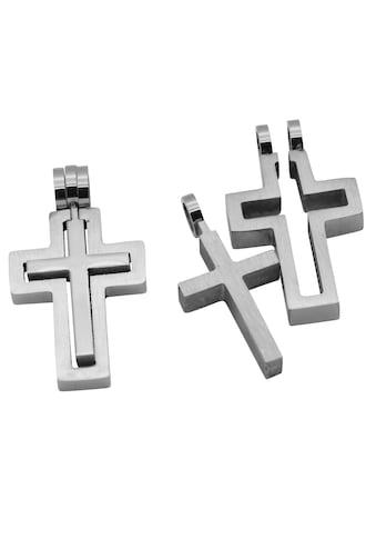 Firetti Anhänger Set »2 - tlg. Set, Kreuze, Glanzoptik, massiv« (Set, 2 tlg.) kaufen