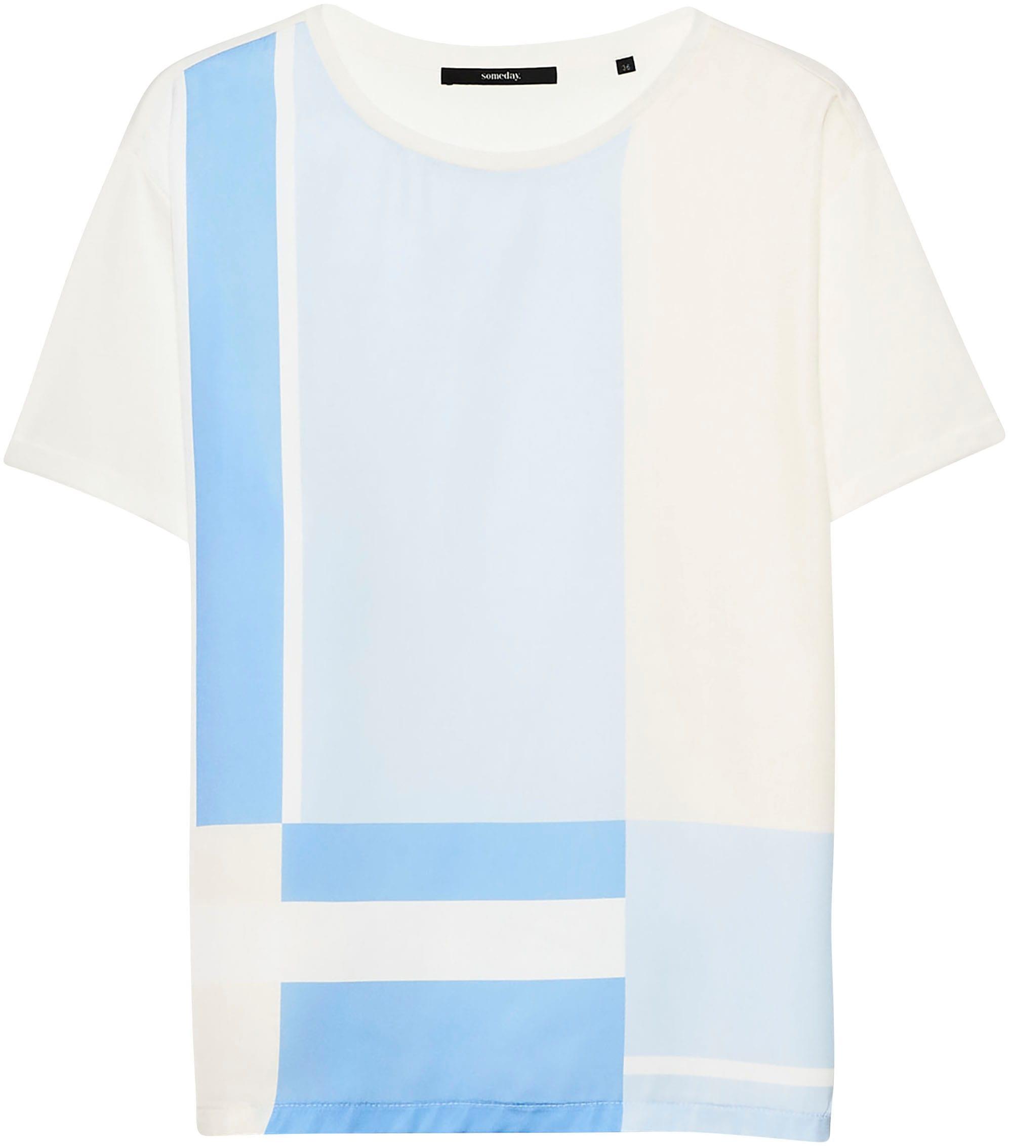 someday -  T-Shirt Kasandri, mit dynamischem Streifenprint