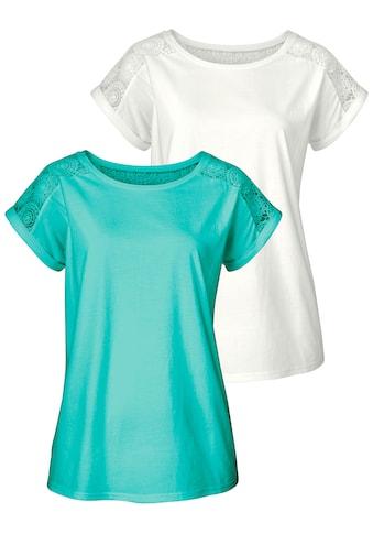 Vivance T-Shirt, mit schöner Spitze kaufen