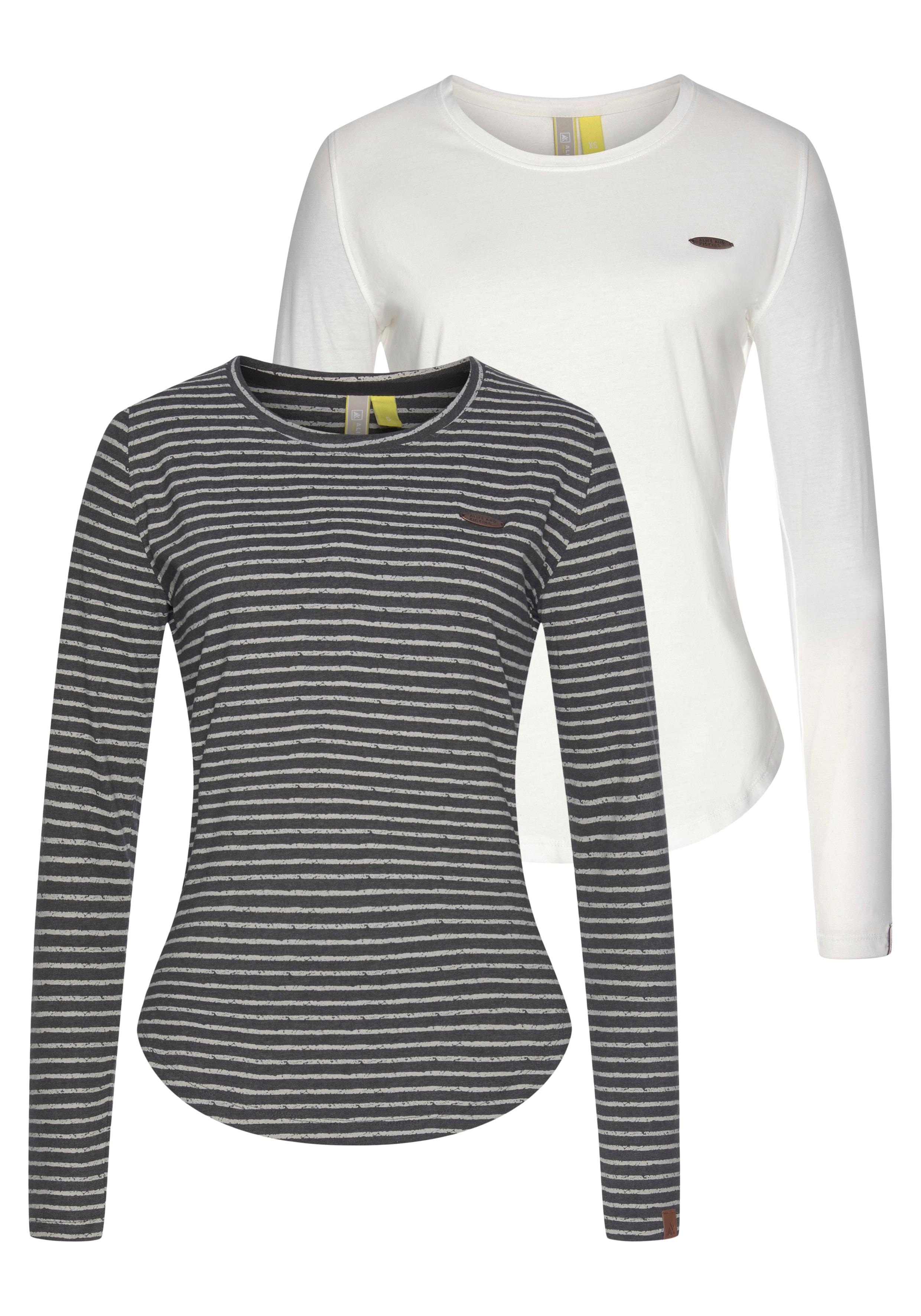 alife & kickin -  T-Shirt LeaAK, modisches Longsleeve mit Bogensaum& Rundhalsausschnitt