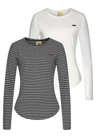 Alife & Kickin T-Shirt »LeaAK«, modisches Longsleeve mit Bogensaum& Rundhalsausschnitt kaufen